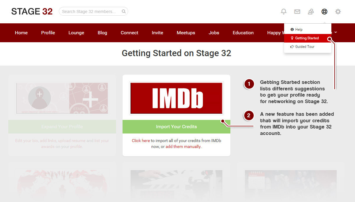 Import Your Imdb Credits To Your Stage 32 Profile Stage 32