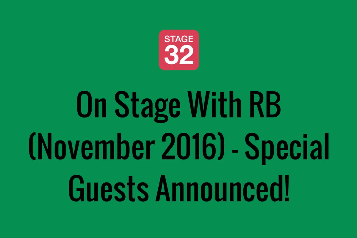 On Stage With RB (November 2016) - Special Guests Announced!