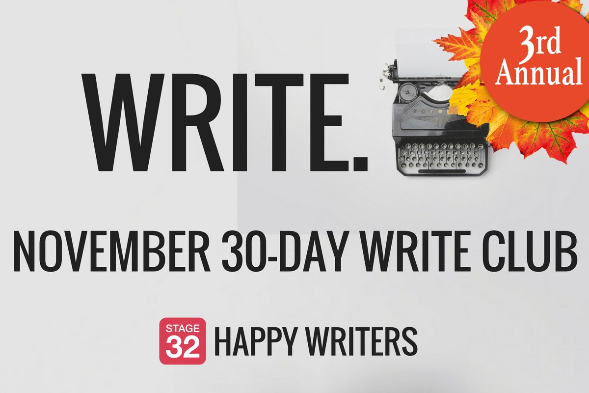 "3rd Annual November Write Club: Get After ""It"""