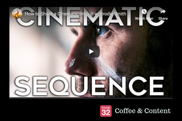 Coffee & Content - How to Shoot a Cinematic Intro & 5 Tips for an Epic Sports Video