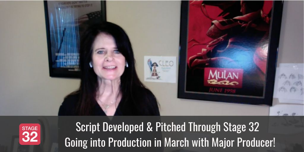 Script Developed & Pitched Through Stage 32 Going into Production in March with Major Producer!