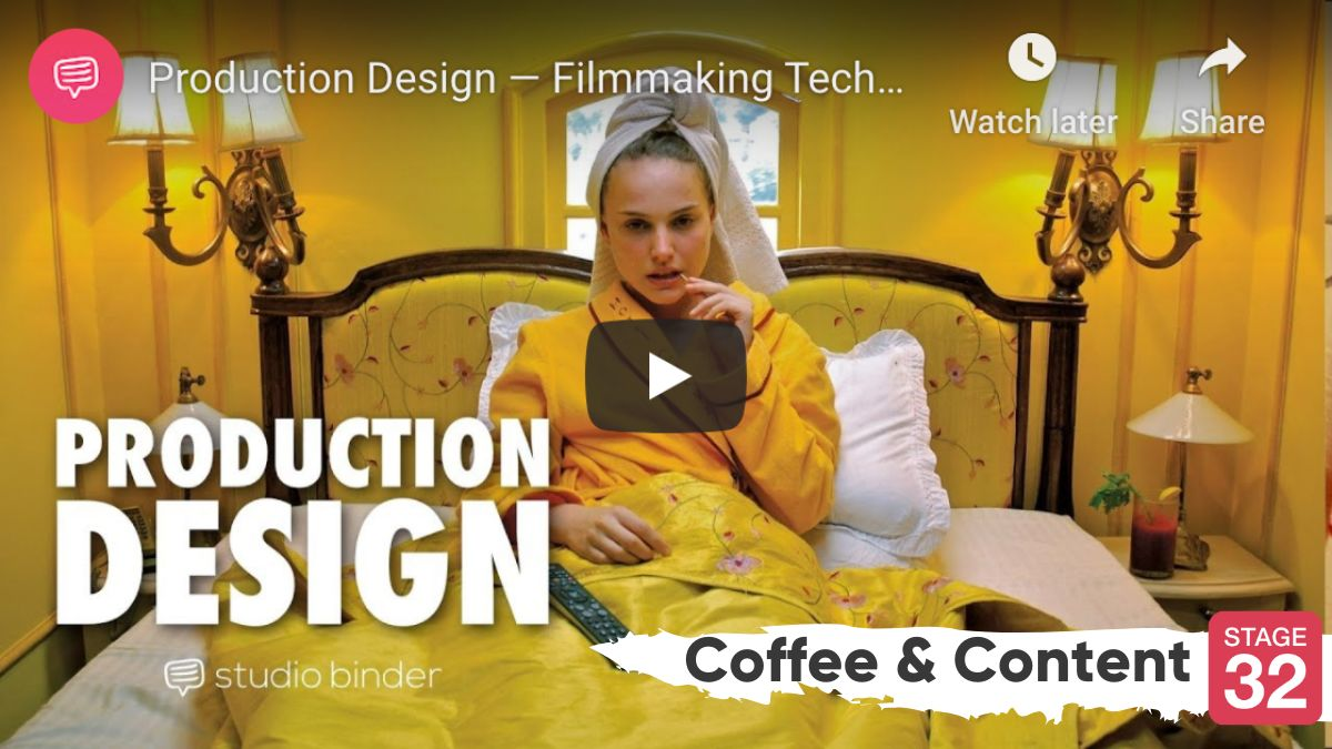 Coffee & Content - Production Design Tips for Directors & How to Make a Cinematic Short Film