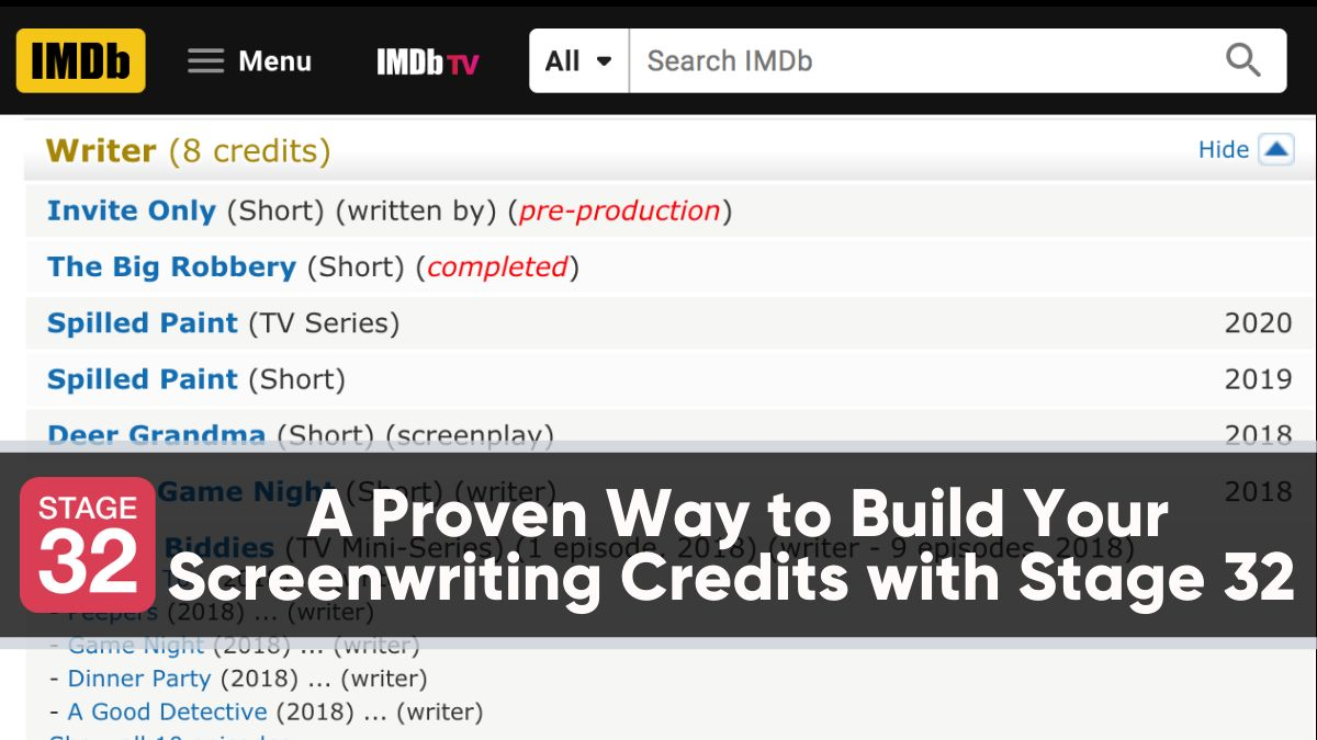 A Proven Way to Build Your Screenwriting Credits with Stage 32