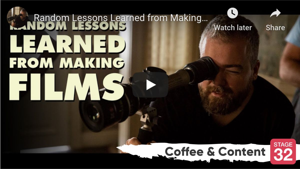 "Coffee & Content - Filmmaking Lessons from the Director of ""Shazam!"" & Seth Rogan Explains How to Write a Movie"