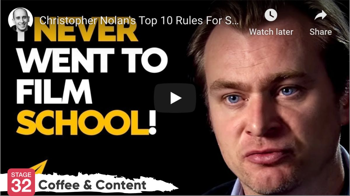 Coffee & Content -  Christopher Nolan's 10 Rules for Success & How Tarantino Writes Scenes