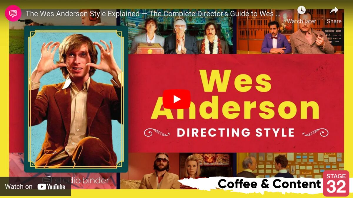 Coffee & Content: The Wes Anderson Aesthetic & The Psychology of Character Relationships