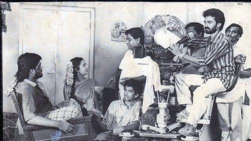 "Early days of my career on sets of Tamil movie ""Ponvillangu"""