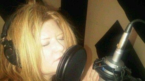 Morgan recording in the studio