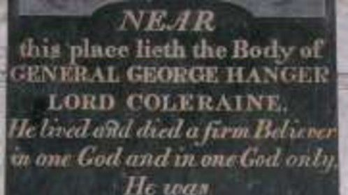 George Hanger's Tombstone