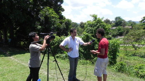 THIS IS HONDURAS, Director Taylor Purdee is interviewed for Honduran National Television