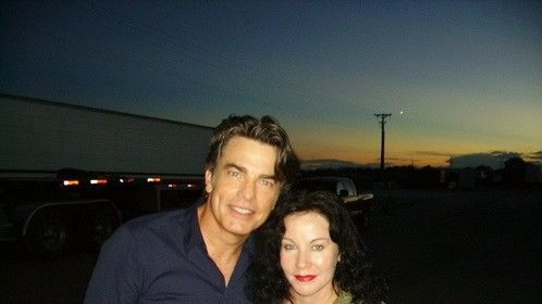On the set of War Boys with Peter Gallagher