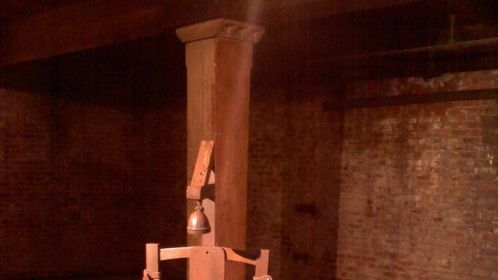 """""""Dark Matters"""" NY Prop Master, Replica - Early Edison electric chair"""