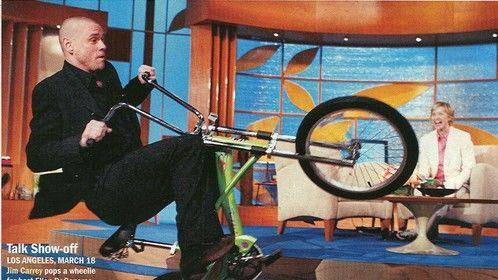 Jim Carrey falling off one of my bikes on Ellen LIVE!