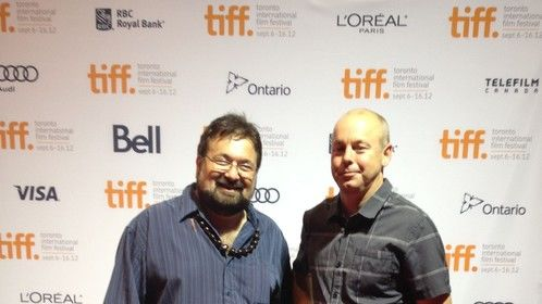 """With my friend Directior of Photography Jim Van Djik in the Toronto film festival. Jim is working next in the film """"August"""" star"""
