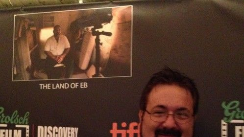 """At the Discovery awards party where """"Land of Eb"""" was up for an award"""