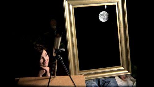 Aron and Portia stargazing.