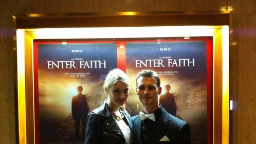 At the gala premiere for my short film Enter Faith
