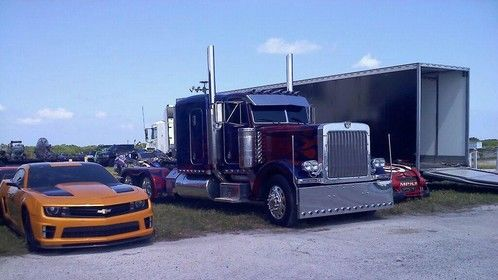 Picture Cars on the set of Transformers Dark of the Moon