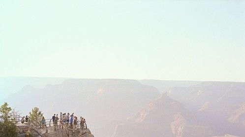 Looking over the Grand Canyon