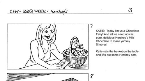 Storyboard sample: Hershey's promo