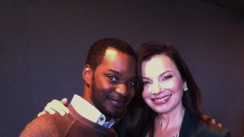 The Amazing Fran Drescher & I on the set of ANDERSON