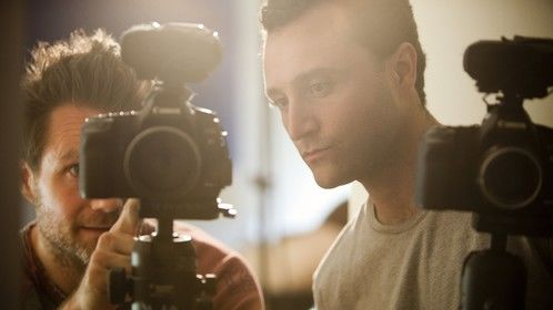 Director J.C. Khoury & DP Andreas von Scheele on the set of The Pill
