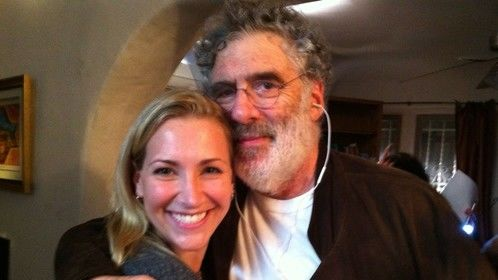 "end of the night with Elliot Gould on the set of ""Listen to Grandpa, Andy Ling"""