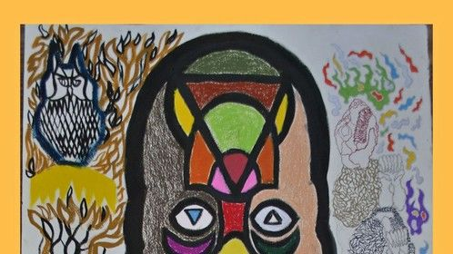Hunter VS Prey (Mixed, on canvas) 2011