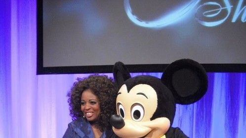 """Michelle Marshall introduces Disney Paris Mickey for The """"O""""show in Amsterdam Holland Nov17,12,"""
