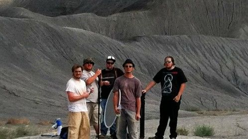 On set at Big Water, UT