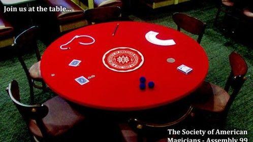 Velvet soriee table covers for Miami Magic Society