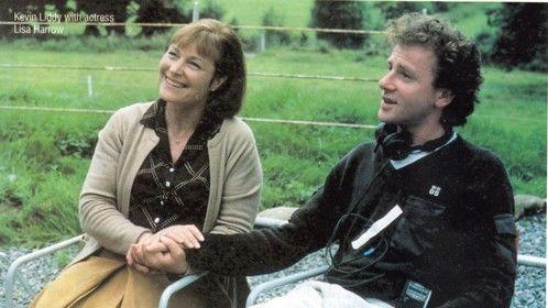 Lisa Harrow and Kevin on the set