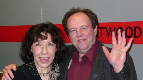 With Lily Tomlin at AK Center for the Performing Arts.