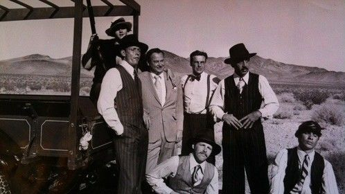 In the Nevada Desert with Barron Hilton and the gang.