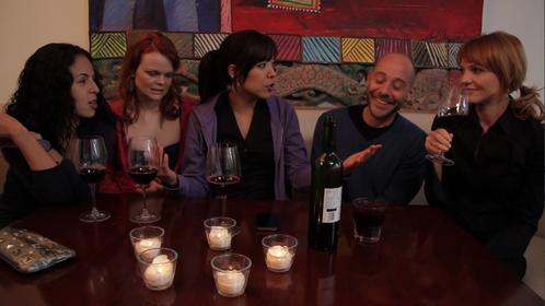 Actors Erika Flores, Sarah Rodenbaugh, Lydia Castro, Darius Boorn, Anne Leighton.