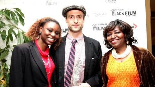 Sabenita with (winner) Director: Gabriel Range @ ''Red Carpet'' : Festival International Film Black, Montreal, Canada