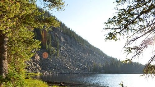 Eagle Lake Colorado sunset