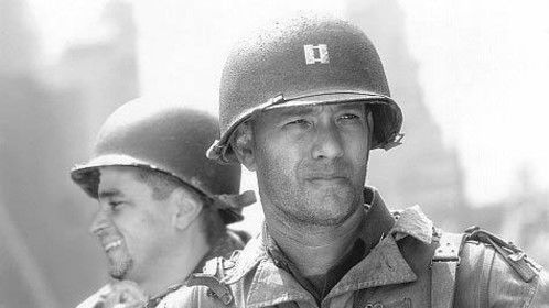 """Snuck on the set of """"Private Ryan"""".  That Hanks surely is a super guy!"""