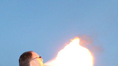 Fire breathing training