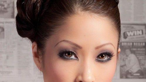 Model: Cindy Wong, glam updo shot