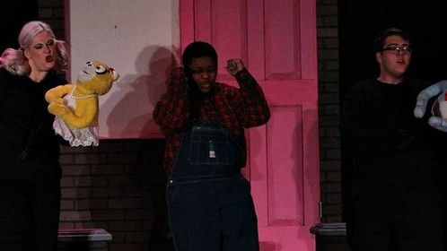 """Performing in """"Avenue Q"""" as the Bad Idea Bear (2014)"""