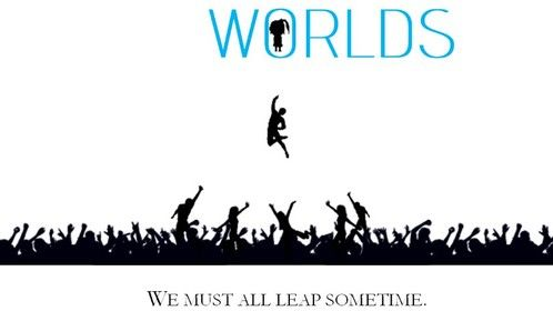 Prospective movie poster for my feature length sci-fi thriller, Worlds.