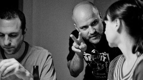Directing on the set of Happy Birthday Michael Peck