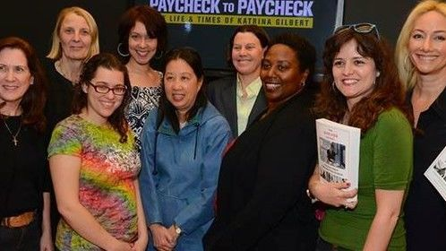 Women In Film , Goals Group attending Maria Shrivers and HBO premiere of documentary Paycheck to Paycheck in Hollywood.