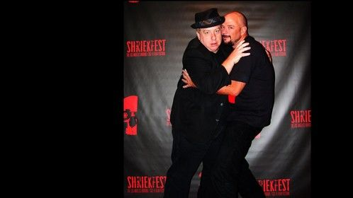 Director John Gulager and me clowning around at the Shriekfest film festival in LA.