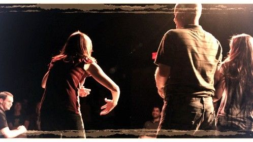 behind the scenes at one of my improv shows with Automatic Improv.
