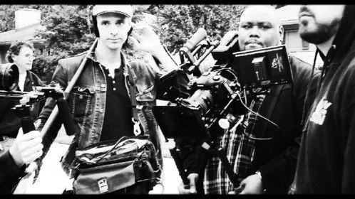 Sight and Sound.  That's DP Rodger and me on the set of 1+99.