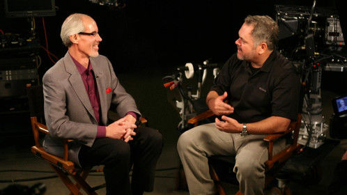 """Interviewing Vince Pace on 3D for """"Avatar"""" in Hollywood in 2009 for pilot of """"Visionary Entertainment"""" TV show."""