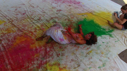 """Behind the scenes from my first music video """"Delicious Storm"""" for Barnaby Tree featuring dancers Giovanna Lacorazza"""
