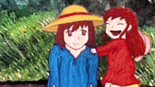 A scene from the movie Wolf Children Ame and Yuki